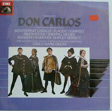"VERDI DON CARLOS CABALLE PLACIDO DOMINGO ESTES CARLO MARIA GIULINI 12"" LP (d206)"