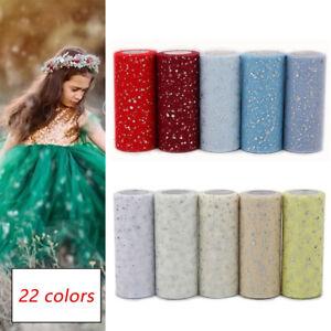 10Yards/Roll Net Tulle Tutu Fabric Glitter Sequin Netting Mesh Wedding DIY Craft