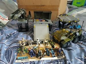 "mega bloks halo UNSC flood siege and gremlin lot ""read description"""