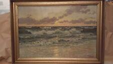 Patrick von Kalckreuth: Gemälde Brandung am Meer