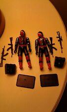 GI Joe Black Major custom Cobra Soldiers black with red straps lot of 2