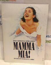 MAMMA MIA! BROCHURE ABBA. BENNY ANDERSSON & BJORN ULVAEUS GREAT CONDITION!