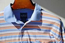 Façonnable XL Colorful Striped 100% Cotton Short Sleeve Polo Shirt - $134.00