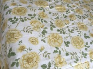 Sandersons yellow roses, 100% cotton duvet cover, king, 90 inches wide.