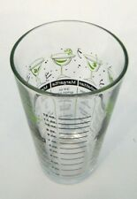 ViNTAGE LiBBEY ReTrO GREEN COCKTAiL RECiPE BAR GLASS TUMBLER MiXiNG MEASURiNG