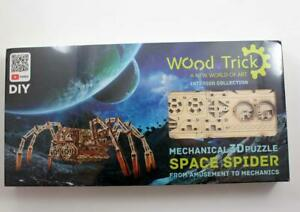 Wood Trick Space Spider 3D Mechanical Puzzle Model Assembly DIY Kit NEW
