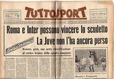 rivista TUTTOSPORT - 29/11/1960 N. 333 ROMA E INTER POSSONO VINCERE LO SCUDETTO