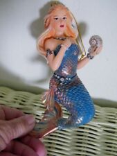 "Mermaid 6"" Colorful Aqua Glittery Life Like Unique Resin Ornament"