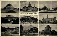 Hannover Mehrbild-AK ~1930 ua. Hochschule, Anzeiger-Hochhaus, Kröpcke, Oper uvm.
