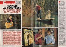 Coupure de presse Clipping 1987 Renaud Séchan (4 pages)