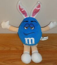 """BLUE M&M Candy Character EASTER BUNNY plush 10"""" by Gallerie"""