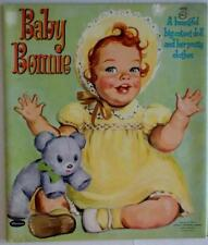 """New listing 1960 """"Baby Bonnie"""" Paper Doll Book by Whitman 10.25 x 12 inch Lot 243"""