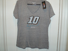 Ladies Danica Patrick #10 Grey NASCAR Short Sleeve TShirt NWT Size Large!