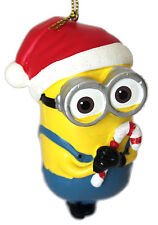 Dave- Despicable Me-Minion Ornament-Santa Hat and Candy Canes