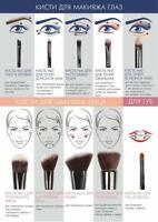 LUXVISAGE Eye Brushes for Eyeshadows, Eyeliner, Brow & Lashes Makeup Application