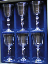 """6 verres à eau 25CL CRISTAL JG DURAND collection """"Villiers"""""""