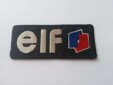 MOTOR RACING RALLY SPORT FUELS OILS SEW / IRON ON PATCH:- ELF (a)