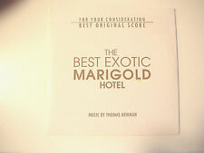 THE BEST EXOTIC MARIGOLD HOTEL Movie CD FYC BEST ORIGINAL SCORE Thomas Newman