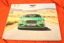 2017 BENTLEY Continental GT/GTC Speed W12/V8 Black Edit. Prospekt Brochure 2016