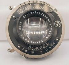 "Carl Zeiss Jena Tessar 13.5cm 135mm F4.5 4x5"" Large Format Lens - Compur Shutter"