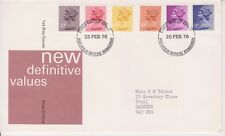 GB ROYAL MAIL FDC FIRST DAY COVER 1976 9p - 20p MACHIN DEFINITIVES BUREAU PMK