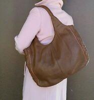 Brown Leather Hobo Bag, Women Shoulder Handbag, Rustic Totes, Areli