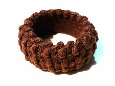 Bijou lucite bracelet fantaisie jonc vintage recouvert de tricot laine  bangle