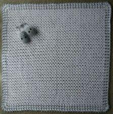 HANDMADE GRANNY SQUARE CROCHET DOLLS BABY BLANKET 79 cm x 83 cm.