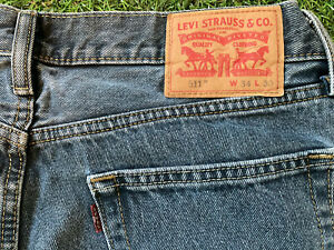 Levi's 511 Used Navy/Grey Zip Fly. W34 L30. Sold As Seen.