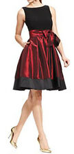 SL Fashions New Sleeveless Pleated Side Bow Dress Size 14 MSRP $109 #GN 760