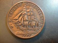1797 Us Navy Frigate Constellation Bronze Medal. Extra Fine.
