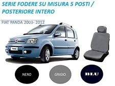 SET FODERE COPRISEDILI SU MISURA FIAT PANDA 2003-2011 COLORE GRIGIO 5 POSTI