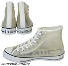 Women's Boys CONVERSE All Star CLEAR HI TOP TRANSPARENT Trainers Boots UK SIZE 5