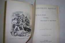 WAVERLEY NOVELS Walter Scott. VOL. 3, Black Dwarf, Ivanhoe, Heart of Mid-lothian