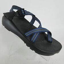 Chaco Z/2 Vibram Unaweep Sport Sandals Blue Gray Black Railroad Mens Size 13