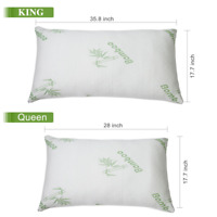 Hypoallergenic Bamboo Memory Foam Bed Pillow Queen/King Size w/Carry Bag US