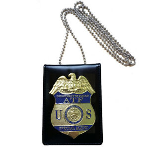 Prop Role Play Cosplay Badge A.T.F Holder Card Wallet Office Badge Holder