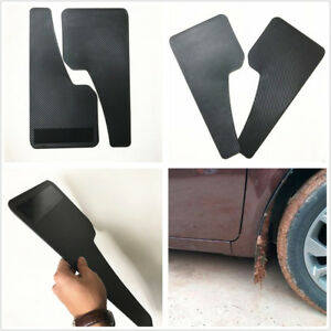 2 Pcs Universal Car Truck Carbon Filber Look Fender Protector Mud Flaps Mudguard