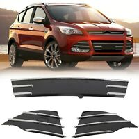 Front Bumper Lower 3pc Chrome Grills Fog Covers For Ford Escape 2013-2016