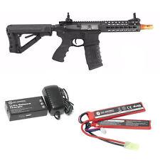 G&G Combat Machine CM16 SRS Airsoft AEG Rifle Keymod RIS ETU MOSFET LiPo Package