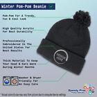 Pom Pom Beanies for Women Mason Gold Embroidery Winter Hats for Men Skull Cap