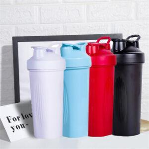 600ml Protein Shaker Bottles Blender Drink Cup Mixer Sport Fitness Gym Portable