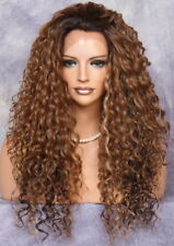 Spiral Curly Super Full Lace Front Wig Brown Auburn mix IER Hairpiece som7002