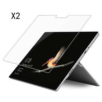 2pcs Tempered Glass Screen Protector Guard Film Bumper For Microsoft Surface Go