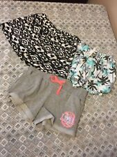 NWT Girl sz 7/8 short lot clothing stretch waist palm trees hearts inspire love