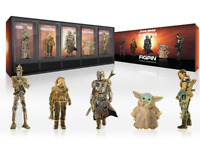 FiGPiN Classic The Mandalorian Deluxe Box Set 5 Star Wars Logo Pin LE 2900