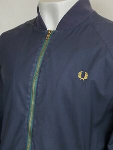 Fred Perry X Bradley Wiggins Bomber Jacket Large (Navy) Mod Casuals 60s Scooter