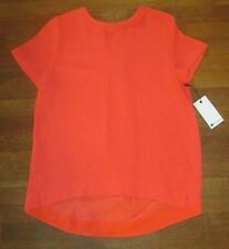 STYLUS Women's Short Sleeve Woven Shell Shirt *NWT* Orange Coral Sz. Medium M
