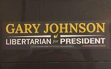 10 Gary Johnson Libertarian for President 2016 BUMPER STICKER FREE SHIPPING 2012