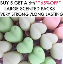 Wax Melts VERY STRONG Soy X 6 Large Hearts / 220+Scent Approx 47g 💝WOW